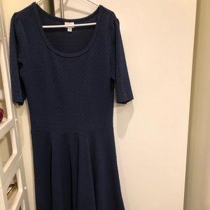 Navy blue. Lula Roe Nicole dress. New